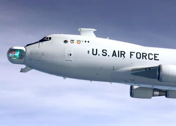 Laser-gun-on-plane